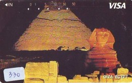 Télécarte Japon Egypte (330) SPHINX * PYRAMIDE * TELEFONKARTE EGYPT Related *  Ägypten Phonecard Japan * - Paysages