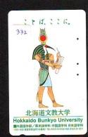 Télécarte Japon Egypte (332) SPHINX * PYRAMIDE * TELEFONKARTE EGYPT Related *  Ägypten Phonecard Japan * - Landschaften