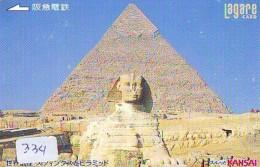 Carte Prépayée  Japon * Egypte (334) SPHINX * PYRAMIDE * KARTE EGYPT Related * Ägypten PREPAID CARD Japan - Landscapes