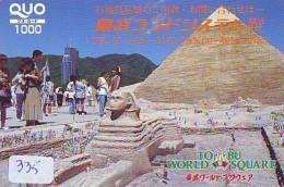 Carte Prépayée  Japon * Egypte (335) SPHINX * PYRAMIDE * KARTE EGYPT Related * Ägypten PREPAID CARD Japan - Landscapes