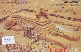 Carte Prépayée  Japon * Egypte (337) SPHINX * PYRAMIDE * KARTE EGYPT Related * Ägypten PREPAID CARD Japan - Landscapes