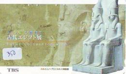 Télécarte Japon Egypte (350) SPHINX * PYRAMIDE * TELEFONKARTE EGYPT Related *  Ägypten Phonecard Japan * - Paysages
