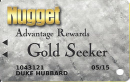 Nugget Casino Resort - Sparks NV -  Casino Slot Card - Casino Cards