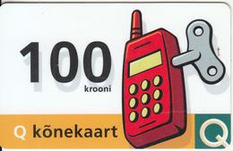 ESTONIA - Q Konekaart Prepaid Card 100 Krooni, Exp.date 01/01/00, Used - Estonia
