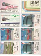 15-TICKETS-TRAIN- Vers 1990-JAPON- MAGNETIQUE-DIVERS-Plastic Fin-TBE - Bus