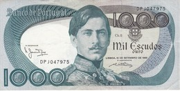 BILLETE DE PORTUGAL DE 1000 ESCUDOS DE OCTUBRE DEL AÑO 1980 SERIE DPJ (BANKNOTE-BANK NOTE) - Portugal