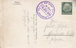 Deutsches Reich Postkarte 1938 Stempel Auf Hoher See Usw - Ohne Zuordnung