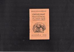 VP12.670 - S.N.C.F - Orphelinat National Des Chemins De Fer - Agenda 1951 - AVERNES X LE VESINET X PECQ X LA BOUZAREAH - Chemin De Fer