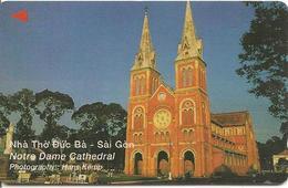 CARTE-MAGNETIQUE-VIETNAM-SAIGON-CATHEDRALE NOTRE DAME-BE-RARE - Viêt-Nam