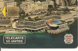 CARTE-PUBLIC-MONACO-50U-MF10-SO3-PALAIS Des CONGRES-V° N°A 0B905-UTILISE-TBE - Monaco