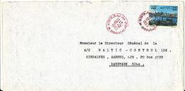 Algeria Cover Sent To Denmark 12-12-1993 Single Franked - Algeria (1962-...)