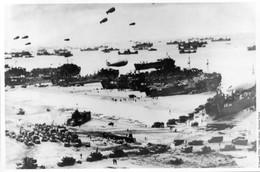 Militaria WW2  -  Photo De Presse - Omaha Beach - Vue Générale - 1939-45