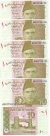 Pakistan - 5 Pcs X 10 Rupees 2017 UNC Lemberg-Zp - Pakistan