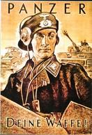 """WW2 - Photo D'affiche Allemande """"PANZER Deine Waffe"""" - 1939-45"""