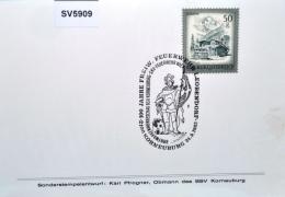 SV5909 100 Jahre Freiw. Feuerwehr Leobendorf, 2100 Korneuburg AT 24.9.1983 / 1 - Marcophilie - EMA (Empreintes Machines)