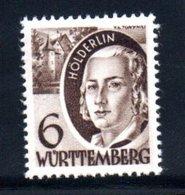 Wurttemberg Occupation Française / N 31 / 6 Pf  Brun / NEUF ** / Côte 10 € - Zone Française