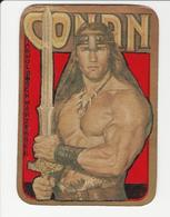 Popular Art * Paper Cutouts Over A Portuguese Calendar * 1984 * Conan * Arnold Schwarzenegger - Popular Art