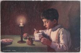 Bp - Cpa Illustrée Tuck - Oilette - By Candle Light - Tuck, Raphael