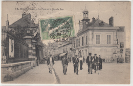 CPA-  MONTEREAU - La Poste Et La Grande Rue -dép77- Très Animée- - Montereau