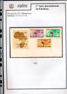 CONGO KINSHASA ZAIRE 1973 ISSUE COB 832/34 FDC - 1971-79: FDC
