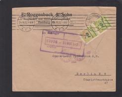 BAUGESCHÄFT UND HOLZBEARBEITUNGSFABRIK,HAMBURG. BRIEF  MIT 20 MILLIARDEN MARK FRANKIERUNG(328A SENK. PAAR). - Germany