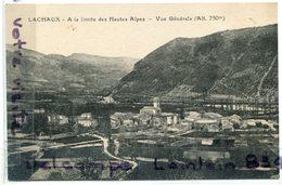 - LACHAUX  - ( Drome ), Vue Générale, Limite Des Hautes Alpes, Rare, Ancienne, Non écrite, TTBE, Scans. - France