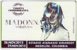 Lote TTR1, Colombia, Madonna World Tour 2012, Medellin, Tiquete, Metro Card, Commemorative Card, Limited Edition, MDNA - Chemins De Fer