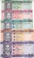 SOUTH SUDAN 1 5 10 20 50 POUND 2011 2015 2016 2017 P-NEW UNC CURRENT SET Lot - Soudan Du Sud