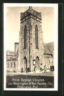 AK Paterson, NJ, First Baptist Church, Cor. Washington & Van Houten Streets - Paterson
