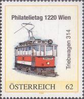 Philatelietag 1220 Wien - Straßenbahn Triebwagen 314 - 8101286** - Sellos Privados