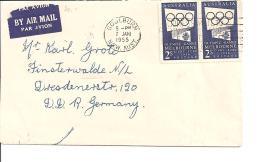 Australien 250  MeF -  Luftpost-Bedarfsbrief  Von Gulburn Nach Finsterwalde - Lettres & Documents