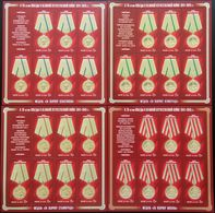 Russia, 2014, Mi. 2056-59, Sc. 7544-47, Medals For Defensive Battles Of 1941-1942, WW II, MNH - Unused Stamps