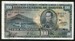 """BOLIVIA BILLETES 1928; """"100 BOLIVIANOS""""; EMISIÓN COMPLEMENTARIA. - Bolivia"""