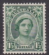 Australia ASC 222 1942 King George VI, 1.5d Green, Mint Never Hinged - Mint Stamps