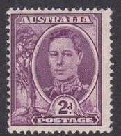 Australia ASC 223 1944 King George VI, 2d Purple, Mint Never Hinged - Mint Stamps