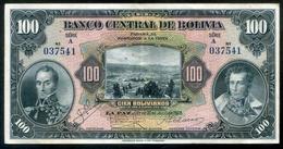 """BOLIVIA BILLETES 1928; """"100 BOLIVIANOS""""; 1ª EMISIÓN DE 1928. - Bolivia"""