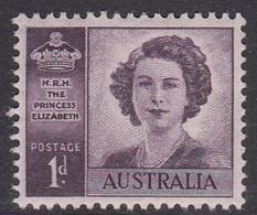 Australia ASC 241 1947 Wedding Of Princess Elizabeth 1d Purple, Mint Never Hinged - Mint Stamps