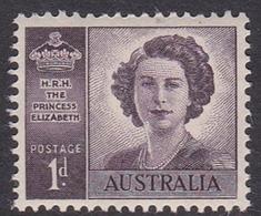 Australia ASC 241 1947 Wedding Of Princess Elizabeth 1d Purple, No Watermark, Mint Never Hinged - Mint Stamps