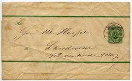 Germany C.1880's 3pf Wrapper, Bremerhaven Postmark - Entiers Postaux