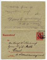 Germany 1914 10pf Letter Card, Berlin To Cassel - Germany
