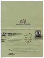 Germany 1918 15pf Letter Card, Leipzig To Bremerhaven - Germany