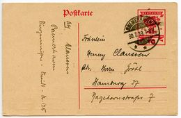 Germany 1919 10pf Republic National Assembly Postal Card, Bremerhaven Postmark - Germany
