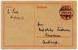 Germany 1921 40pf Postal Card, Crefeld To Bremerhaven - Germany