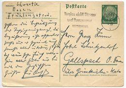 Germany 1942 6pf. Hindenburg Postal Card, Essen Slogan Postmark - Entiers Postaux