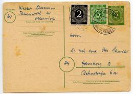Germany 1947 Uprated Postal Card, Ihlienworth To Hamburg - Zone AAS
