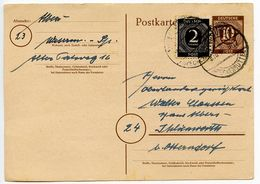 Germany 1946 Uprated Postal Card, Wesermünde To Ihlienworth - American,British And Russian Zone
