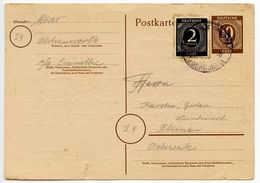 Germany 1946 Uprated Postal Card, Ihlienworth To Steinau - American,British And Russian Zone