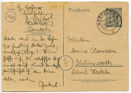 Germany 1946 12pf Postal Card, Gräfelfing To Ihlienworth - Amerikaanse, Britse-en Russische Zone