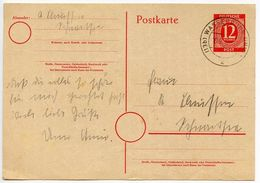 Germany 1946 12pf Postal Card Wasserburg Postmark - American,British And Russian Zone