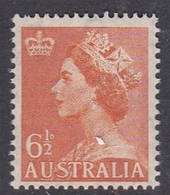 Australia ASC 292 1953 Queen Elizabeth II Definitives, 6.5 Orange, Mint Never Hinged - 1952-65 Elizabeth II : Pre-Decimals